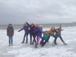 The 6th grade on Grand Traverse Bay