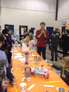 Loads of goop, hoop gliders, balancing sticks and penny boats were made, with the help of alumni, all in the name of science!