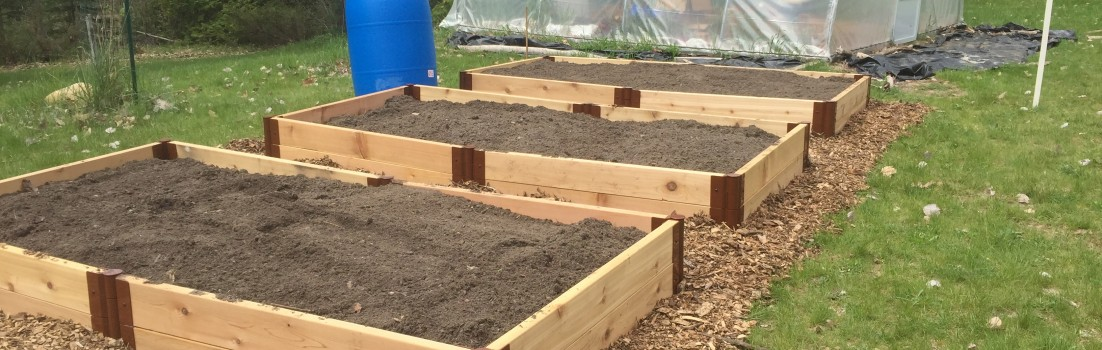 New raised beds ready for seeds and transplants! Thank you Rob Hansen!